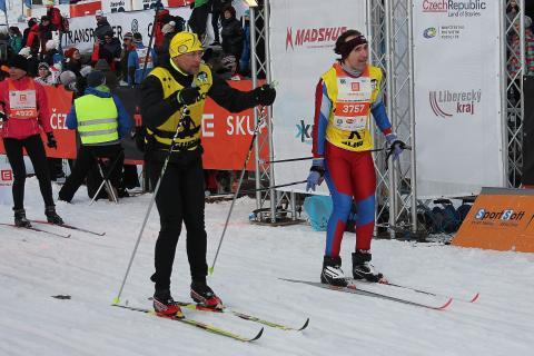 Marek Šimíček v cíli 50km